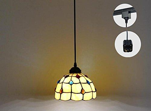 STGLIGHTING H-type 3 wire track light pendants Length 4.9 feet restaurant chandelier decorative Chandelier instant pendant light bulb not include Tiffany Pendant Lamp (gdtb0203)