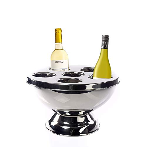IMPULSE! Vienna Stainless Steel 6 Compartment Wine Bottle Chiller