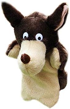 tianluo Juguete de Peluche Mano Títeres Encantador Animal Felpa Infancia Suave Juguete Lobo Forma Historia Fingir Jugando Muñecas De Regalo Títeres De Dedo Juguete A Mano