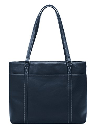 (Overbrooke Classic Laptop Tote Bag - X-Large Vegan Leather Womens Shoulder Bag for Laptops up to 15.6 Inches)