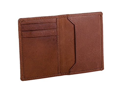 Dwellbee Rfid Blocking Slim Leather Credit Card Bilfold Wallet  Buffalo Leather  Brown
