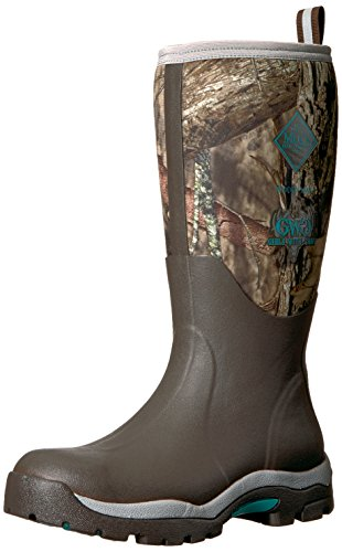 Muck Boot Women's Woody PK Work Boot, Bark, Mossy Oak Break-up/Teal, 10 M US by Muck Boot