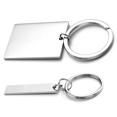 Personalized Master Free Engraving Custom 2pcs Stainless Steel Jigsaw Puzzle Heart Matching Pendant Couples Keychain, Key Ring for His and Hers Lovers Valentine's Day