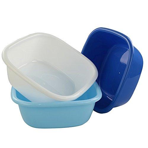 Wekiog 8 Quart Dish Pan Basin, 3-Pack, Colorful