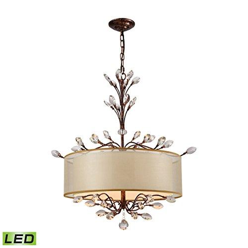 -LED Asbury 4 Light LED Spanish Bronze Chandelier ()