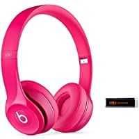 Beats by Dr. Dre Solo 2.0 Pink On-Ear Headphones Travel Bundle with Portable Charger