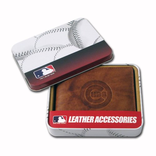 Rico Industries MLB Chicago Cubs Embossed Genuine Cowhide Leather Passcase