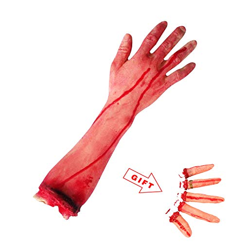 Terror Severed Bloody Fake Arm Hand for Halloween Party Props Decorations