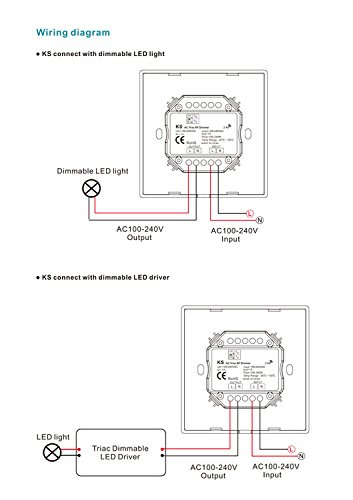 info for 38b61 890b9 AC Triac Rotary Panel Dimmer Rotary Panel AC Phase-Cut Dimmer Dimming RF  Remote for Single Color Dimmable LED Lamps Traditional Incandescent Halogen  ...