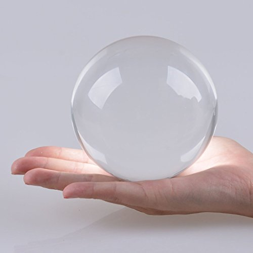 Amlong Crystal New Clear Crystal Ball Sphere Asian Quartz 80mm (3