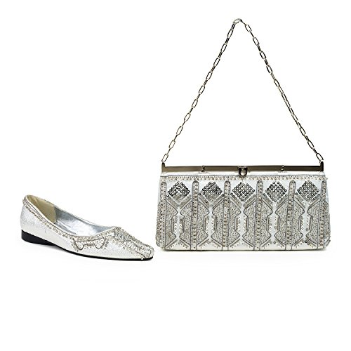 FARFALLA Luxury Matching Shoes and Bag Silver oGB2ihGBV