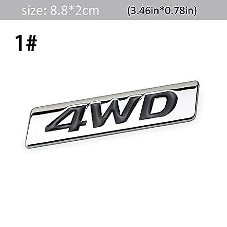 #1 DSYCAR 3D Metal 4WD Car sticker Logo Emblem Badge Sticker Decals Car Styling DIY Decoration Accessories for Universal Cars Moto Bike Car Styling Decorative Accessorie