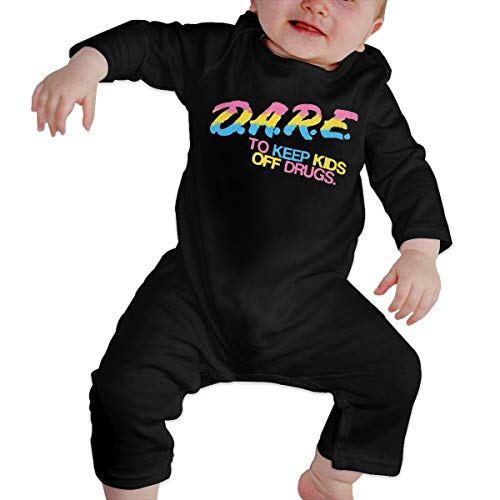 Dare to Keep Kids Off Drugs Baby Long Sleeve Onesies Bodysuit Kindness Cotton Toddler Romper Outfits for Boys Girls Black