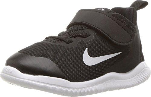 NIKE Toddler Free RN 2018 Shoes (10K, Black/White) (Free Toddler Shoes Nike Boys)
