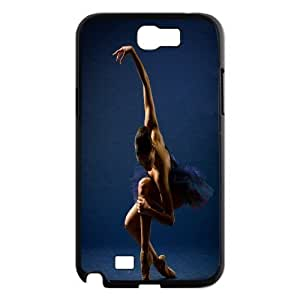 High Quality Phone Back Case Pattern Design 3Swan And Ballet- For Samsung Galaxy Note 2 Case