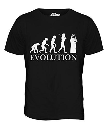 CandyMix Men's Nun Evolution Of Man T Shirt T-Shirt Top, Size 5X-Large, Color Black]()