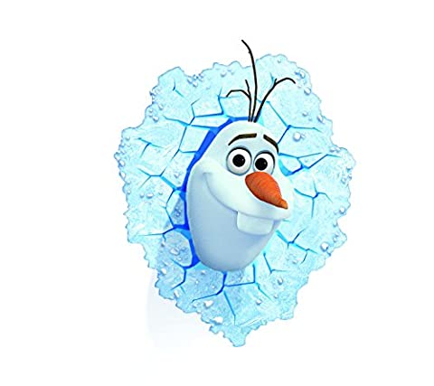Kids night lights - Olaf (Frozen) 3D Deco light for kids room decorations -Applique murale (Olaf Wall Mural)