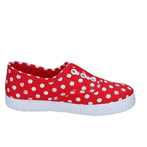 CIENTA , Mädchen Sneaker rot rot / weiß