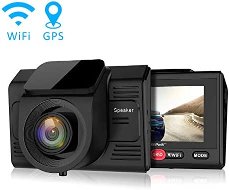 Campark Dash Cam with GPS Logger and Wifi Full HD 1080P Car Vehicle Driving Video Camera,Wide Angle,2.45 LCD,Motion Detection,Parking Monitor