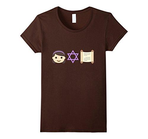 [Women's Bat Mitzvah Girl Emoji t-shirt Small Brown] (Bat Mitzvah T-shirts)