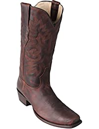 Men's 7 Toe Walnut Genuine Leather Rage Skin Western Boots - Exotic Skin Boots