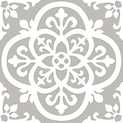 FloorPops FP2942 Medina Peel & Stick Floor Tile, Grey