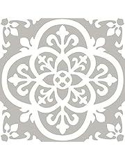 FloorPops FP2942 Medina Peel & Stick Floor tile Grey, 10 Count