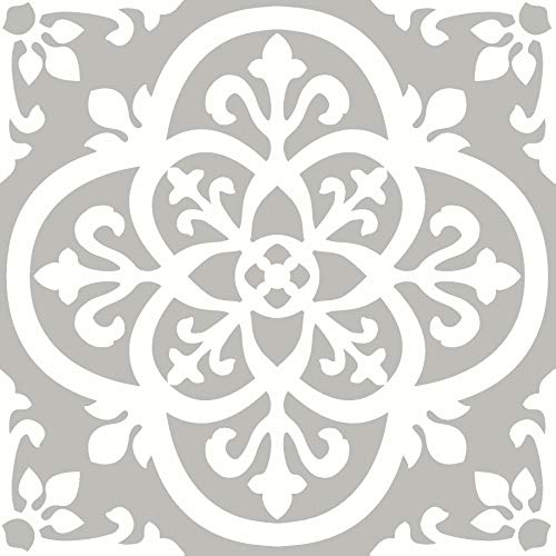 FloorPops FP2942 Medina Peel & Stick Floor Tile, Grey