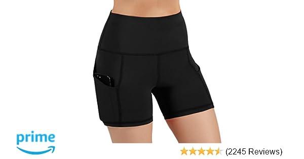 4b0a791c62414 Amazon.com: ODODOS High Waist Out Pocket Yoga Short Tummy Control Workout  Running Athletic Non See-Through Yoga Shorts: Clothing