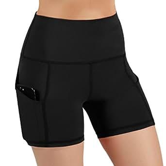 28580a1ce8e60 Amazon.com: ODODOS High Waist Out Pocket Yoga Short Tummy Control ...