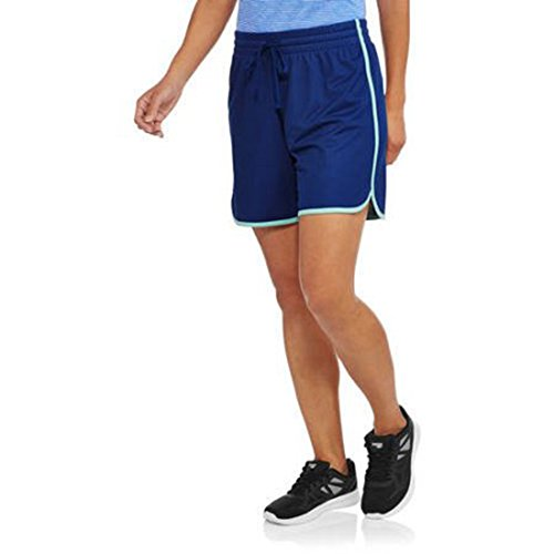 Ladies Mesh Shorts (Athletic Works Women's Active Long Mesh Shorts (XX-Large, Blue/Aqua))