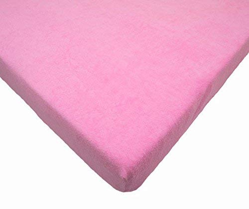 Rosa Frottier Spannbettuch passend zu 160x70cm Kinderbett Matratze