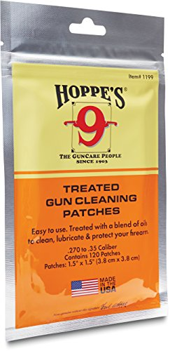 Hoppe's .270-.50 Caliber Treated Gun Cleaning Patches