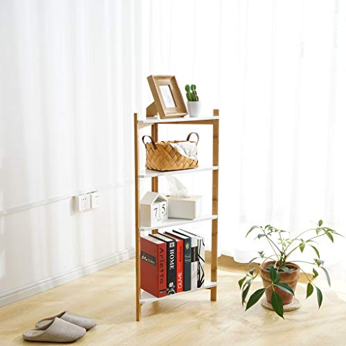 Sodoop Corner Shelf, 4-Tier Bamboo Corner Shelf, Storage Rack Shelf Plant Stand for Kitchen Home Office,Indoor or Outdoor