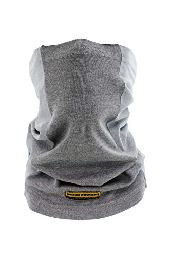 (Flame Resistant Face Mask Neck Gaiter, USA Made, 6.4 Cal, Lightweight, Soft FRC (Plain Face Gaiter (Gray)))