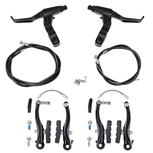 Farbetter Bike Front & Rear Brake Levers, Brakes Cables, V-Brake Caliper Kit, Bicycle Bike V-Brake Set