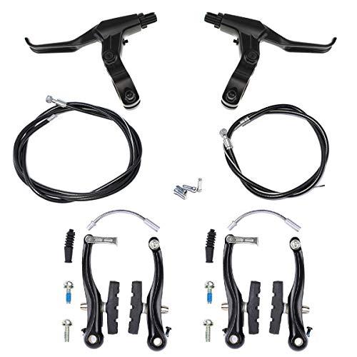 Farbetter Bike Front & Rear Brake Levers, Brakes Cables, V-Brake Caliper Kit, Bicycle Bike V-Brake Set