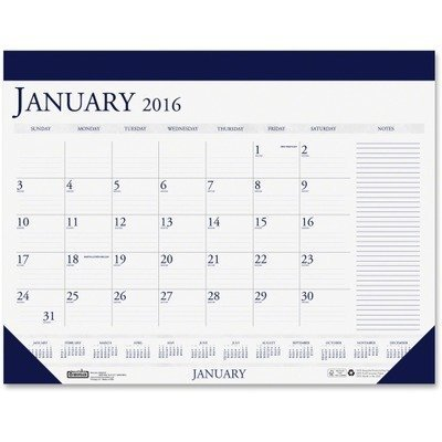 2011 Desk Pad Calendars - House of Doolittle Desk Pad Calendar 12 Months January 2011 to December 2011, 22 x 17 Inch, Blue and Gray, Recycled (HOD164) by House of Doolittle