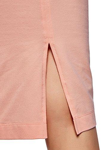 oodji Ultra Mujer Vestido-Camiseta de Tirantes (Pack de 3 Unidades) Rosa (5400N)