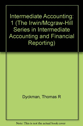 Intermediate Accounting, Fourth Edition, Vol. 1