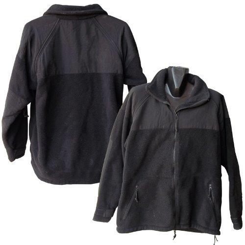 US Military Men's PolarTec 300 Fleece Jacket, XL Black Polartec Liner