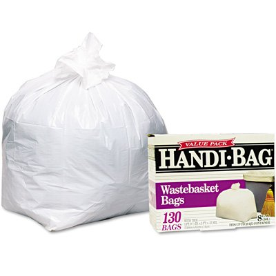 Webster Handi-Bag Super Value Pack Can Liners - Handi-Bag Waste Liners 8Gal 130/Box
