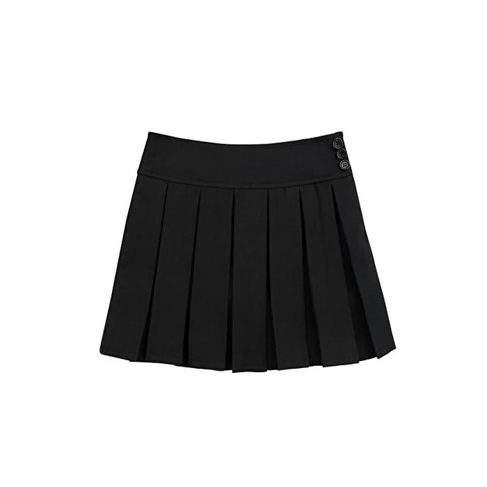 41KA7C lfGL La falda está hecha de material de poliéster y spandex La mesa del talla bajo de la página es SÓLO PARA REFERENCIA. Verifique bien la talla y elija el tamaño adecuado según sus hábitos de vestir Poliéster y Spandex