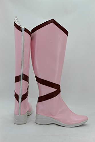 Puella Magi Madoka Magica Madoka Kaname Male-Version Cosplay Shoes Boots Custom Made Pink Vh5xt8RI
