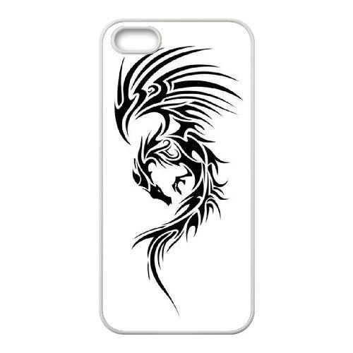 Dragon Tribal 008 coque iPhone 4 4S Housse Blanc téléphone portable couverture de cas coque EOKXLLNCD19551