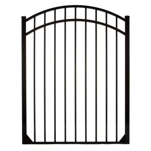 Specrail DIY Fence GR9543A048ARCHB Bethany Aluminum Arched 3-Rail Fence Walk Gate with Hardware, 54 by 48-Inch - Arched Fence Gate