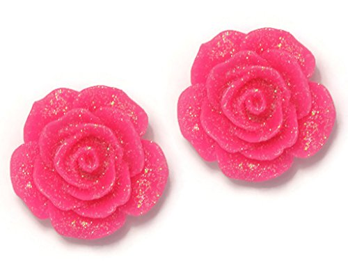 Anne Boleyn Dress (CHADADA Jewelry Pink Resin Rose Flower Stud Earrings for Women, OA13)