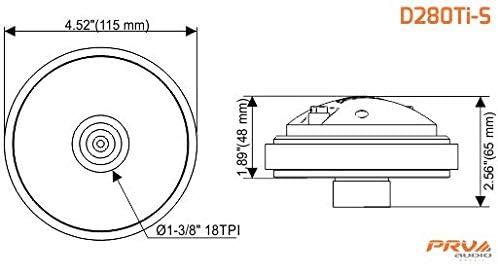 "WGP14-25 Black Horn 2x PRV Audio D280Ti-S 1/"" Titanium PRO Driver 320 Watts 8O"