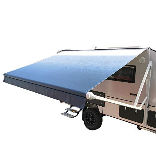 ALEKO RVAWM12X8BLUE24 Motorized Retractable RV/Patio Awning 12 x 8 Feet Blue