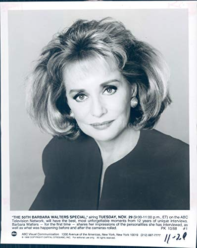 1991 Photo Barbara Walters Journalist ABC TV Interview Author Personality 7x9 (Best Barbara Walters Interviews)